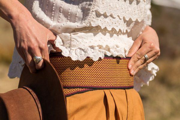 Faja tejida de lana